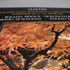 Discos de vinilo: HAYDN, CONCERTO POUR VIOLONCELLE... EDIGSA/HARMONIA MUNDI. 1980. Lote 247113340