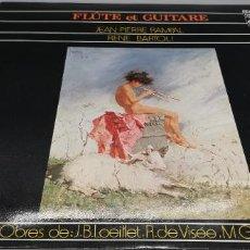 Discos de vinilo: JEAN-PIERRE RAMPAL & RENE BARTOLI - FLÛTE ET GUITARE. Lote 247164455