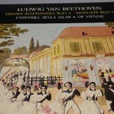 Discos de vinilo: DISCO/VINILO-LP: BEETHOVEN - DANSES ALLEMANDES WOO 8 Y MENUETS WOO 7 (EDIGSA). Lote 247188785