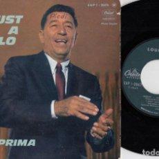 Discos de vinilo: LOUIS PRIMA - SAXO SAM BUTERA - JUST A GIGOLO - EP DE VINILO EDICION FRANCESA #. Lote 247201225