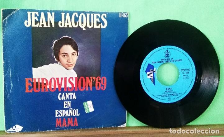 JEAN JACQUES.MAMA.EUROVISION 69.LIMPIO ,TRATADO CON ALCOHOL ISOPROPÍLICO.AZ (Música - Discos - Singles Vinilo - Festival de Eurovisión)