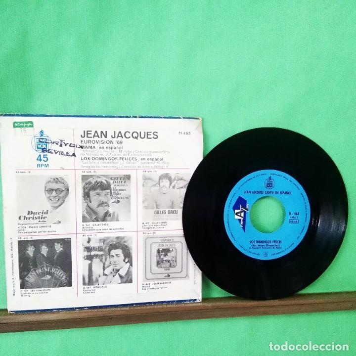 Discos de vinilo: JEAN JACQUES.MAMA.EUROVISION 69.LIMPIO ,TRATADO CON ALCOHOL ISOPROPÍLICO.AZ - Foto 2 - 247202265