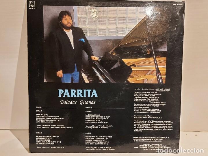 Discos de vinilo: PARRITA / BALADAS GITANAS / COLABORACIÓN: TOMATITO / DOBLE LP - HORUS-1991 / MBC. ***/*** - Foto 2 - 247207140