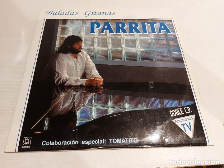 Discos de vinilo: PARRITA / BALADAS GITANAS / COLABORACIÓN: TOMATITO / DOBLE LP - HORUS-1991 / MBC. ***/*** - Foto 5 - 247207140