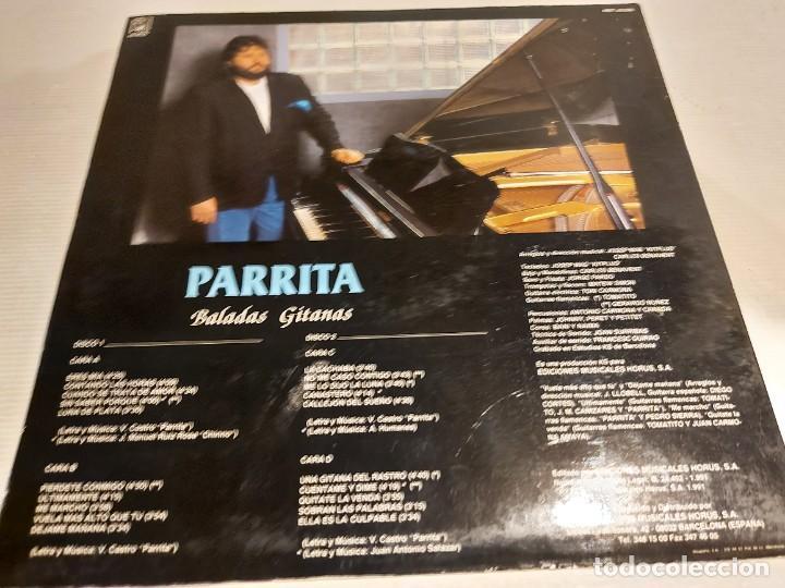 Discos de vinilo: PARRITA / BALADAS GITANAS / COLABORACIÓN: TOMATITO / DOBLE LP - HORUS-1991 / MBC. ***/*** - Foto 6 - 247207140