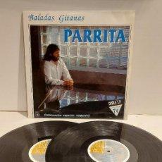 Discos de vinilo: PARRITA / BALADAS GITANAS / COLABORACIÓN: TOMATITO / DOBLE LP - HORUS-1991 / MBC. ***/***. Lote 247207140