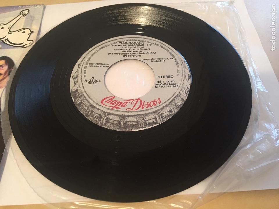 "Discos de vinilo: Cucharada - Social Peligrosa - SINGLE RADIO 7"" - 1978 CHAPA DISCOS - Foto 3 - 247213600"