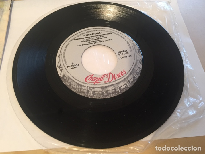 "Discos de vinilo: Cucharada - Social Peligrosa - SINGLE RADIO 7"" - 1978 CHAPA DISCOS - Foto 5 - 247213600"