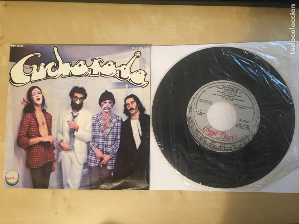 """CUCHARADA - SOCIAL PELIGROSA - SINGLE RADIO 7"""" - 1978 CHAPA DISCOS (Música - Discos - Singles Vinilo - Grupos Españoles de los 70 y 80)"""