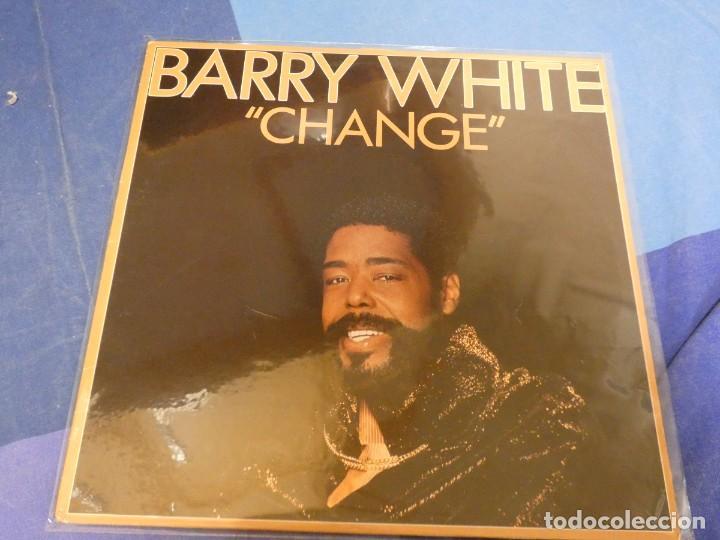 EXPRO LP FUNK SOUL BARRY WHITE CHANGE 1982 MUY BUEN ESTADO GENERAL (Música - Discos - LP Vinilo - Jazz, Jazz-Rock, Blues y R&B)
