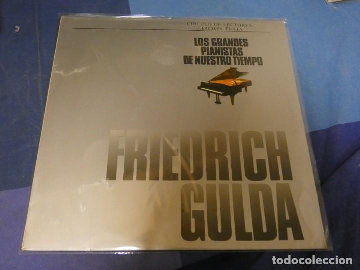 EXPRO LP DEUSTCHE GRAMOPHON LOS GRANDES PIANISTAS DE NUESTRO TIEMPO FRIEDERICH GULDA BUEN ESTADO (Música - Discos - LP Vinilo - Jazz, Jazz-Rock, Blues y R&B)