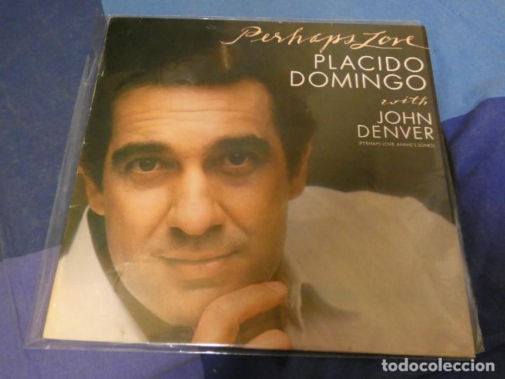 EXPRO LP PLACIDO DOMINGO CON JOHN DENVER PHERAPS LOVE BUEN ESTADO (Música - Discos - LP Vinilo - Jazz, Jazz-Rock, Blues y R&B)