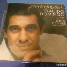 Discos de vinilo: EXPRO LP PLACIDO DOMINGO CON JOHN DENVER PHERAPS LOVE BUEN ESTADO. Lote 247233230