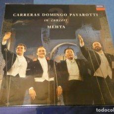 Discos de vinilo: EXPRO LP DOMINGO CARRERAS AND PAVAROTTI ELS 3 TENORS IN CONCERT ZUBIN MEHTA BUEN ESTADO. Lote 247234110