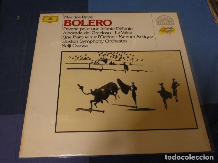 EXPRO LP MAURICE RAVEL BOLERO SEIJI OZAWA DEUTSCHE GRAMOPHON MUY BUEN ESTADO (Música - Discos - LP Vinilo - Jazz, Jazz-Rock, Blues y R&B)