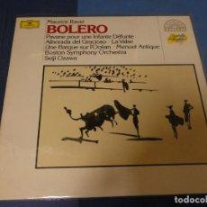 Discos de vinilo: EXPRO LP MAURICE RAVEL BOLERO SEIJI OZAWA DEUTSCHE GRAMOPHON MUY BUEN ESTADO. Lote 247234355