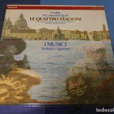 Discos de vinilo: EXPRO LP VIVAVLDI LE QUATTRO STAGINI I MUSICI FEDERICO AGOSTINI MUY BUEN ESTADO. Lote 247234470