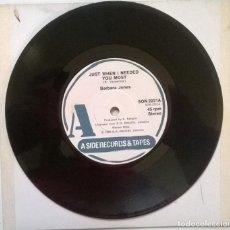 Discos de vinilo: BARBARA JONES. JUST WHEN I NEEDED YOU MOST/ NEVER LET ME GO. A SIDE, 1980 SINGLE. Lote 247238825