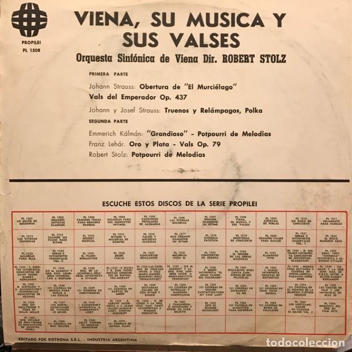 Discos de vinilo: LP argentino de la Orquesta Sinfónica de Viena año 1968 - Foto 2 - 247241175