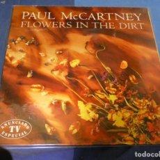 Discos de vinilo: EXPRO LP PAUL MC CARTNEY FLOWERS IN THE DIRT BUEN ESTADO GENERAL 23. Lote 247241940