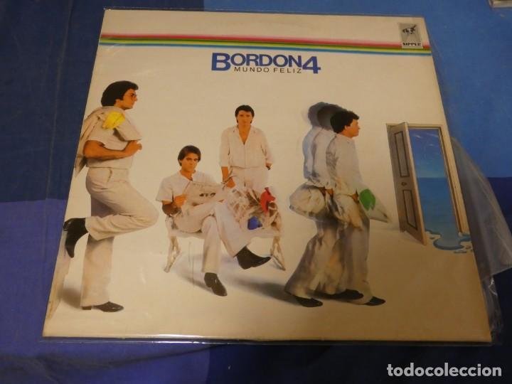 EXPRO LP BORDON 4 UN MUNDO FELIZ 1984 MUY OPTIMO ESTADO GENERAL (Música - Discos - LP Vinilo - Jazz, Jazz-Rock, Blues y R&B)
