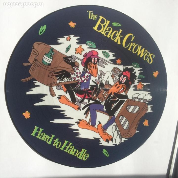 THE BLACK CROWES -HARD TO HANDLE-JEALOUS AGAIN-TWICE AS HARD - PICTURE DISC-MAXI-RARO-NUEVO-1990 (Música - Discos de Vinilo - EPs - Pop - Rock Internacional de los 90 a la actualidad)