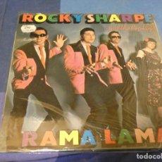 Discos de vinilo: EXPRO LP ROCKY SHARPE AND THE REPLAYS RAMA LAMA ROCKABILLY MUY BUEN ESTADO GENERAL. Lote 247263900
