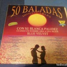Discos de vinilo: EXPRO TRIPLE LP 50 BALADAS INOLVIDABLES MUY BUEN ESTADO MOGOLLON GRUPOS AÑOS 60. Lote 247263980