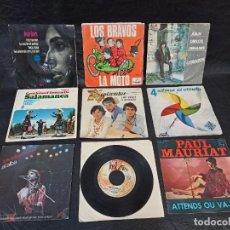 Discos de vinilo: 9 DISCOS DISTINTOS AUTORES. SINGLES. Lote 247266125