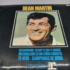 Discos de vinilo: DEAN MARTIN - RECUERDAME YO SOY EL QUE TE QUIERE + 3 - EDICION ESPAÑOLA - HISPAVOX. Lote 247273760