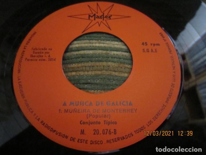Discos de vinilo: CONJUNTO TIPICO - ALBORADA GALLEGA (VEIGA) SINGLE - ORIGINAL ESPAÑOL - MARFER RECORDS 1969 - MONO - - Foto 3 - 247296570