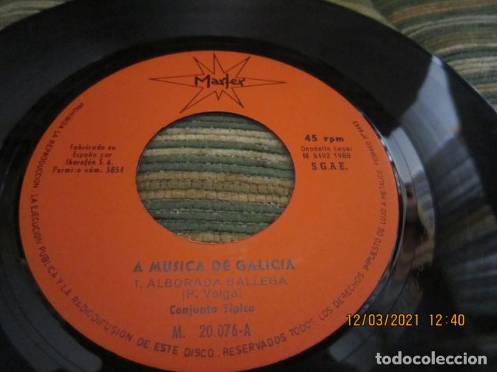 Discos de vinilo: CONJUNTO TIPICO - ALBORADA GALLEGA (VEIGA) SINGLE - ORIGINAL ESPAÑOL - MARFER RECORDS 1969 - MONO - - Foto 4 - 247296570
