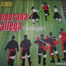 Discos de vinilo: CONJUNTO TIPICO - ALBORADA GALLEGA (VEIGA) SINGLE - ORIGINAL ESPAÑOL - MARFER RECORDS 1969 - MONO -. Lote 247296570