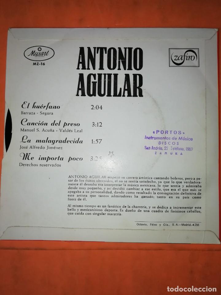 Discos de vinilo: ANTONIO AGUILAR. EL HUERFANO. ZAFIRO 1967 - Foto 2 - 247297220
