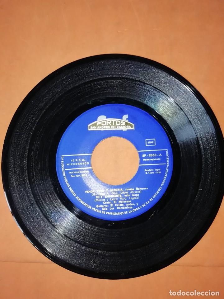 Discos de vinilo: EL MEJORANO. VENGA VINO Y ALEGRIA. SAEF 1961 - Foto 4 - 247298845