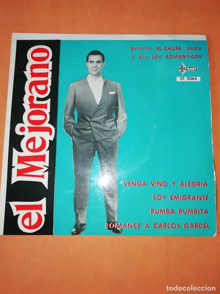 EL MEJORANO. VENGA VINO Y ALEGRIA. SAEF 1961 (Música - Discos de Vinilo - EPs - Flamenco, Canción española y Cuplé)