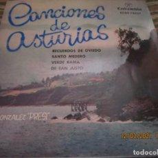 Discos de vinilo: JOSE GONZALEZ (PRESI) - CANCIONES DE ASTURIAS EP - ORIGINAL ESPAÑLO - COLUMBIA 1962 - MUY NUEVO(5). Lote 247298945