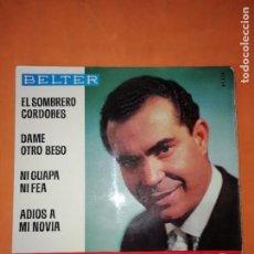 Discos de vinilo: EL MEJORANO. EL SOMBRERO CORDOBES. BELTER. 1965. Lote 247303530