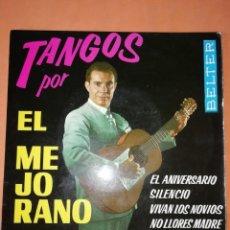 Discos de vinilo: TANGOS POR EL MEJORANO. EL ANIVERSARIO. BELTER. 1962. Lote 247307100