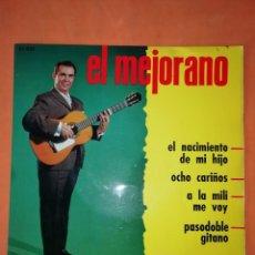 Discos de vinilo: EL MEJORANO. EL NACIMIENTO DE MI HIJO. BELTER. 1963. Lote 247308365