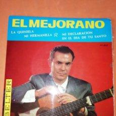Discos de vinilo: EL MEJORANO. LA QUINIELA. BELTER. 1963. Lote 247309235