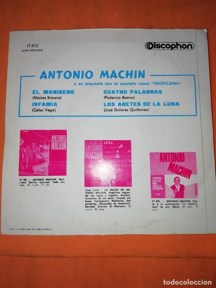 Discos de vinilo: ANTONIO MACHIN & TROPICANA . EL MANISERO. DISCOPHON 1960 - Foto 2 - 247313350