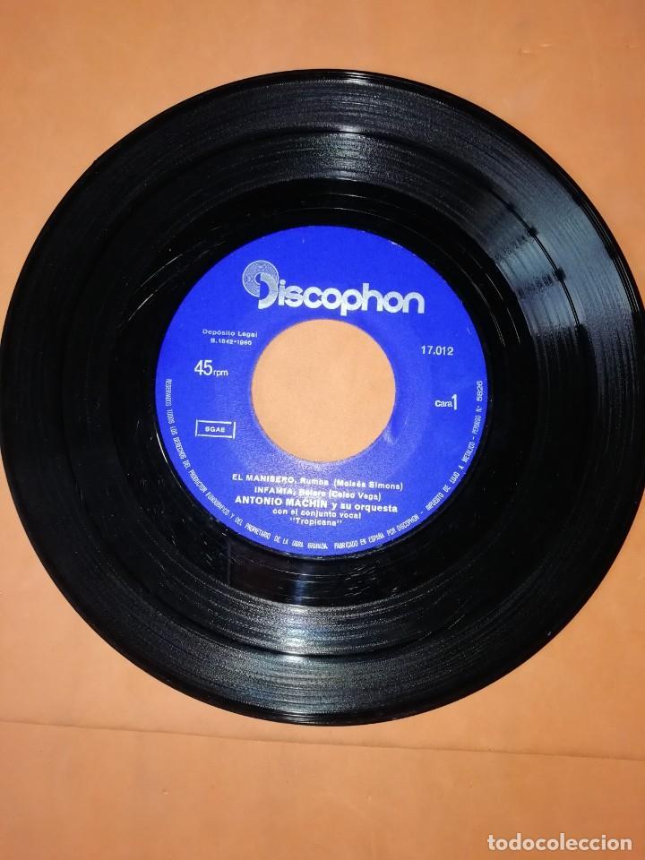 Discos de vinilo: ANTONIO MACHIN & TROPICANA . EL MANISERO. DISCOPHON 1960 - Foto 4 - 247313350