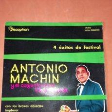 Discos de vinilo: ANTONIO MACHIN & TROPICANA . CON LOS BRAZOS ABIERTOS. DISCOPHON 1960. Lote 247314625