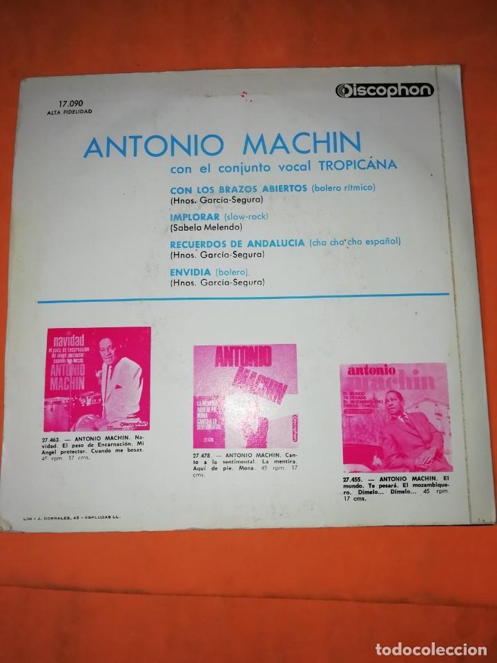 Discos de vinilo: ANTONIO MACHIN & TROPICANA . CON LOS BRAZOS ABIERTOS. DISCOPHON 1960 - Foto 2 - 247314625