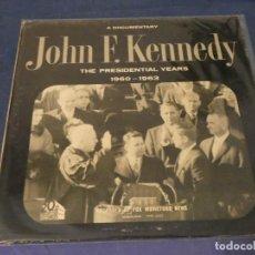 Discos de vinilo: EXPRO LP DISCO DOCUMENTAL SOBRE JFK 1960-63 MUY BUEN ESTADO CREO QUE NUNCA PUESTO. Lote 247332420