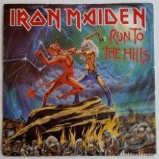 Discos de vinilo: IRON MAIDEN – RUN TO THE HILLS / TOTAL ECLIPSE UK,1982 EMI. Lote 247333365
