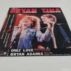 Discos de vinilo: VINILO EDICIÓN JAPONESA DE BRYAN ADAMS & TINA TURNER - IT'S ONLY LOVE - ADAMIX. Lote 247358615