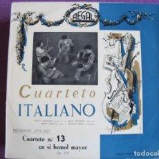 Discos de vinil: LP - BEETHOVEN - CUARTETO Nº 13 (CUARTETO ITALIANO) (SPAIN, DISCOS REGAL SIN FECHA). Lote 247401275