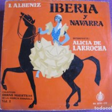 Discos de vinilo: LP - ALBENIZ - IBERIA Y NAVARRA (ALICIA DE LARROCHA, PIANO) (DOBLE DISCO CON LIBRETO, HISPAVOX). Lote 247412540